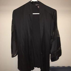 Victoria's Secret black lace robe